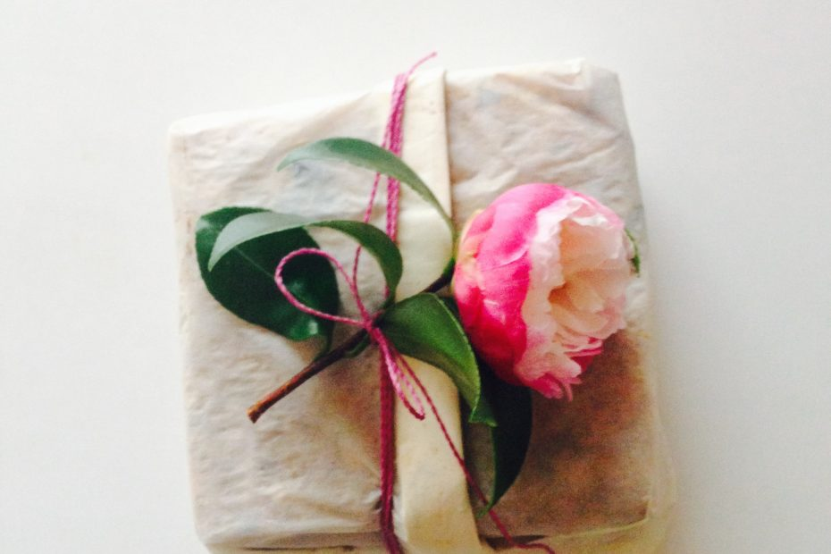 Gift with flower